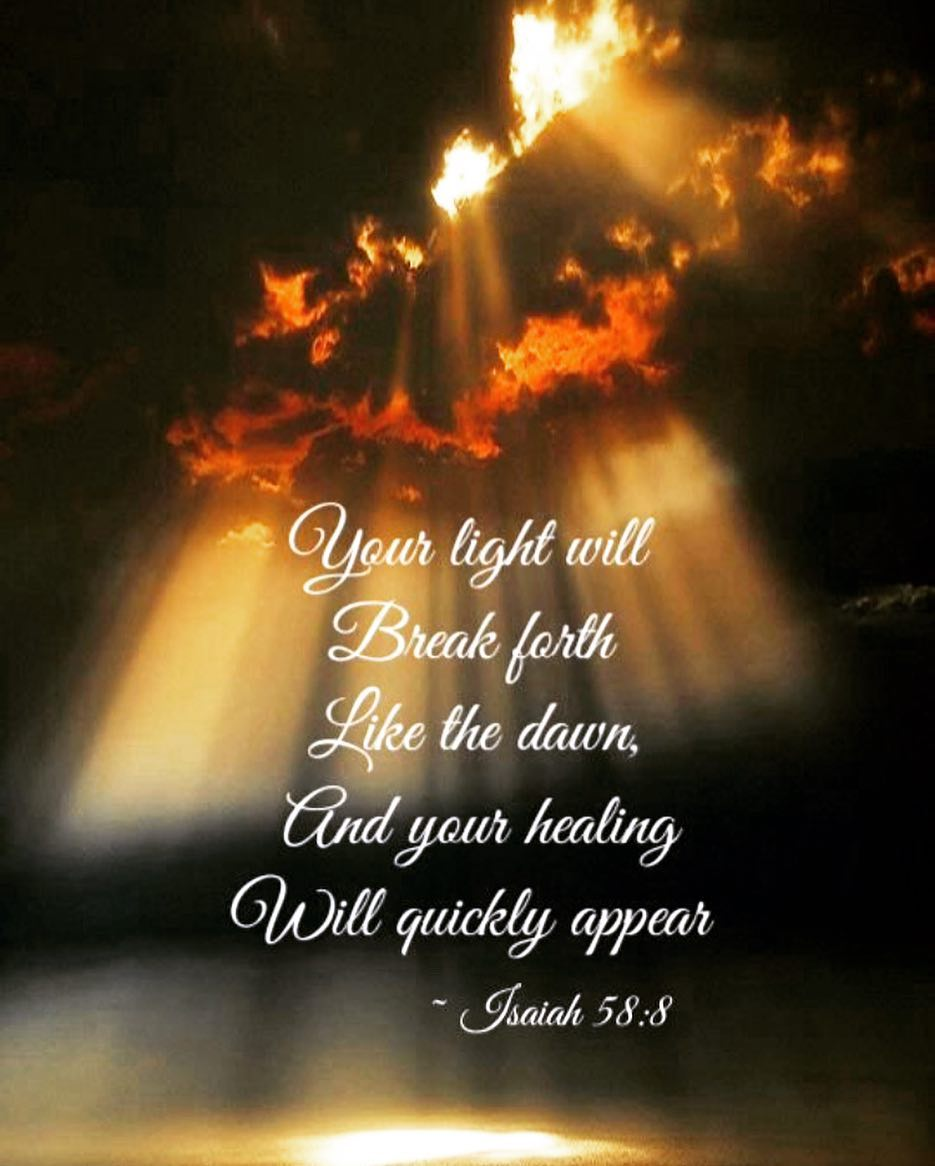 Image result for isaiah 58:8 images