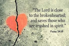 Image result for god is near the broken hearted image