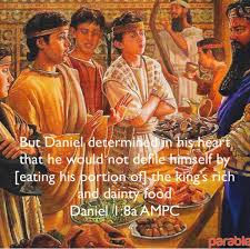 Image result for daniel not eating the king's food